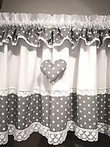 Úžitkový textil - Záclonka a obrus v šedom - 13382354_