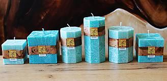 Svietidlá a sviečky - Vonné sviečky TYRKYS - 13382348_