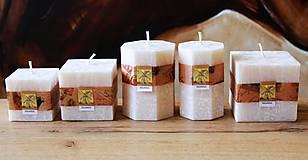 Svietidlá a sviečky - Vonné sviečky SLONOVINA - 13382349_