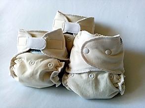 Detské doplnky - Sada troch biobavlnených plienok -3 x BIO Nohavičková plienka + vkladačka - 13382460_