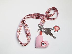 Kľúčenky - Textilná šnúrka s karabínkou - zdravotná sestra - 13382692_