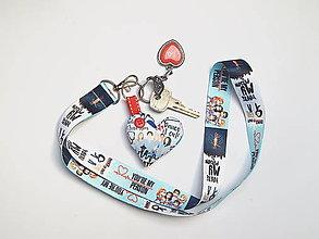 Kľúčenky - Textilná šnúrka s karabínkou - zdravotníci - 13382704_