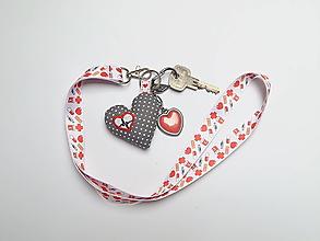 Kľúčenky - Textilná šnúrka s karabínkou - zdravotníci - 13382738_