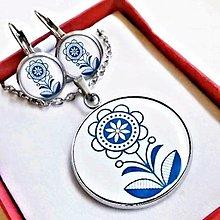 Sady šperkov - náušnice, prívesok Folklórny ornament 2 - 13382978_