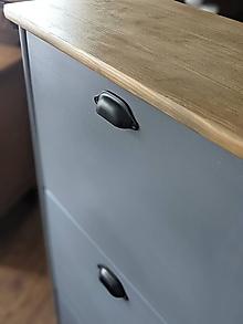Nábytok - Sivý botník - 13384815_