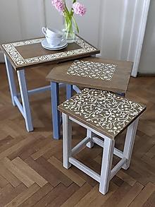 Nábytok - Tri stolčeky - 13384842_