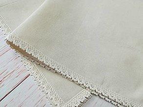 Úžitkový textil - Štvorcový obrus-režné plátno - 13383461_