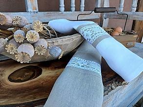Úžitkový textil - Darčeková sada utierok Grandma's Story III - 13385502_