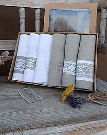 Úžitkový textil - Darčeková sada utierok Grandma's Story - 13385546_