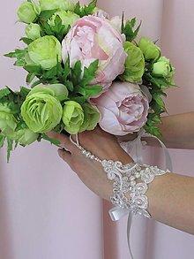 Náramky - Svadobné rukavičky V - 13383968_