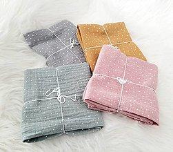 Textil - Mušelínová plienka 60x60cm ziadany rozmer - 13389134_