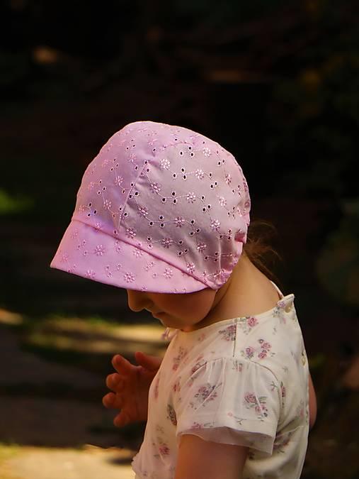 Detský čepiec Eliška ružový