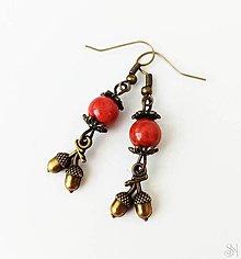 Náušnice - Handmade náušnice z liečivého kameňa jaspisu červeného - 13386547_