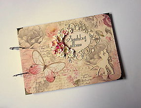 Papiernictvo - Fotoalbum svadobný * kniha hostí A4 - 13386319_