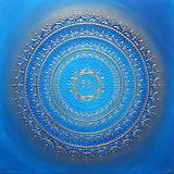 Obrazy - Mandala  NEKONEČNÁ LÁSKA A ŠTASTIE ♥ (blue) 80 x 80 - 13386988_