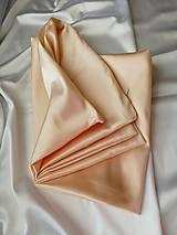 Úžitkový textil - Saténové obliečky 50x70cm marhuľové - 13388230_