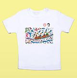 Detské oblečenie - Detské tričko s lingovými znakmi - 13387676_