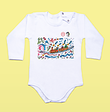 Detské oblečenie - Detské body s lingovými znakmi - 13387687_