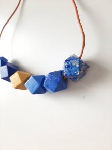 Náhrdelníky - Výrazné modré BLUE-lue - 13389583_
