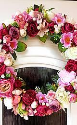 """Dekorácie - Celoročný veniec """"ružová záhrada"""" - 13388325_"""