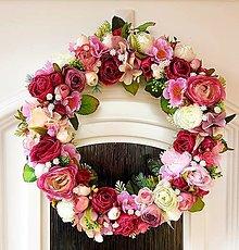 """Dekorácie - Celoročný veniec """"ružová záhrada"""" - 13388323_"""