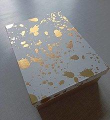 Krabičky - krabička zlaté oprsky - 13386806_