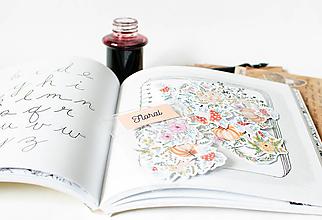 Papier - Samolepky - Floral - 13389258_