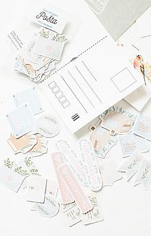 Papier - Samolepky - Pošta - 13389343_