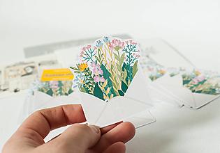 Papier - Samolepky - Kvetinová obálka - 13389469_