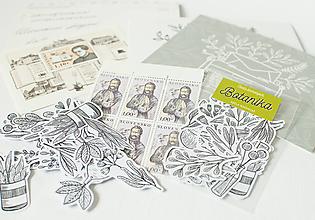 Papier - Samolepky - Botanika - 13389474_