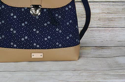 modrotlačový batoh Martin béžový 2