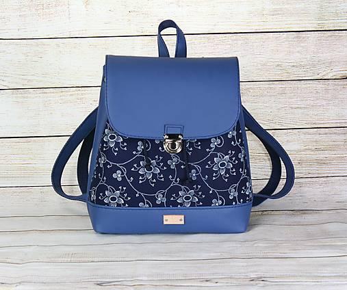 modrotlačový batoh Martin modrý 1