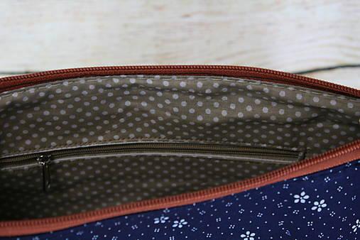 modrotlačová kabelka Xénia hnedá 1