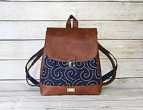 Batohy - modrotlačový batoh Martin hnedý 5 - 13388417_