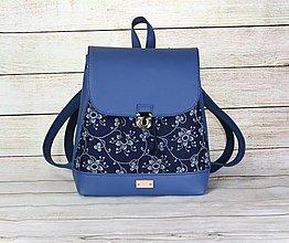 Batohy - modrotlačový batoh Martin modrý 1 - 13388439_