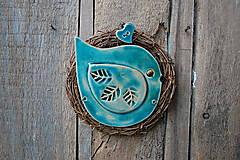 Dekorácie - Vtáčik vo venčeku č. 145 - 13386131_
