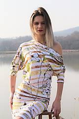 Šaty - ....bláznivý pásik,,,,, rozkvitol,,,, - 13386081_