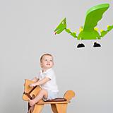 Hračky - Zelený Lietajúci Drak - Závesná Dekorácia pre Deti - 13387664_