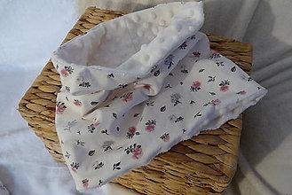 Detské doplnky - teplý nákrčník-kvety - 13386043_