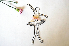 Dekorácie - baletka ( s menom) - 13388571_