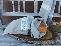 Úžitkový textil - Vrecúško na chlieb Grandma's Story I - 13388114_