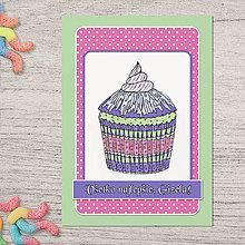 Papiernictvo - Pohľadnica koláčik slivkový - 13386562_
