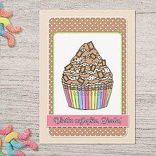 Papiernictvo - Pohľadnica koláčik čokoládový - 13386565_
