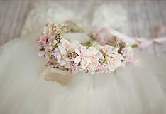 Ozdoby do vlasov - Veľký ružový svadobný venček - 13389720_