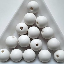 Korálky - Plast MATT 10mm-10ks - 13391181_