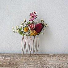 """Ozdoby do vlasov - Hrebienok zo sušených kvetov """"Amélia"""" - 13390014_"""