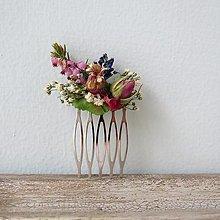 """Ozdoby do vlasov - Hrebienok zo sušených kvetov """"Kate"""" - 13390036_"""
