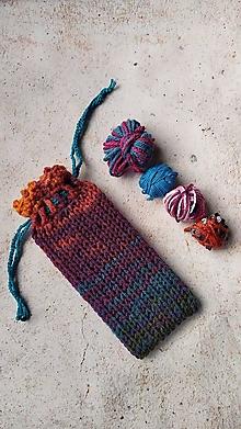 Úžitkový textil - Pletené vrecúško na šnúrky krásne melírované - 13390053_