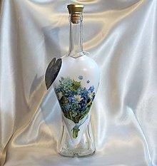Nádoby - Ozdobná fľaša Lúčne kvietky - 13391781_