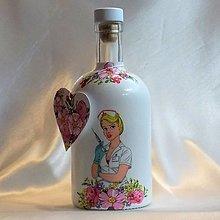 Nádoby - Darčeková fľaša Najlepšia sestrička - 13391812_